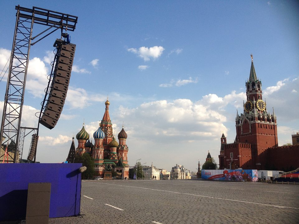 L-Acoustics Kudo on Red Square, Moscow