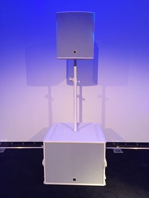 White L-Acoustics SB18 & X12 from Netherlands