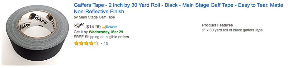 gaff tape best price