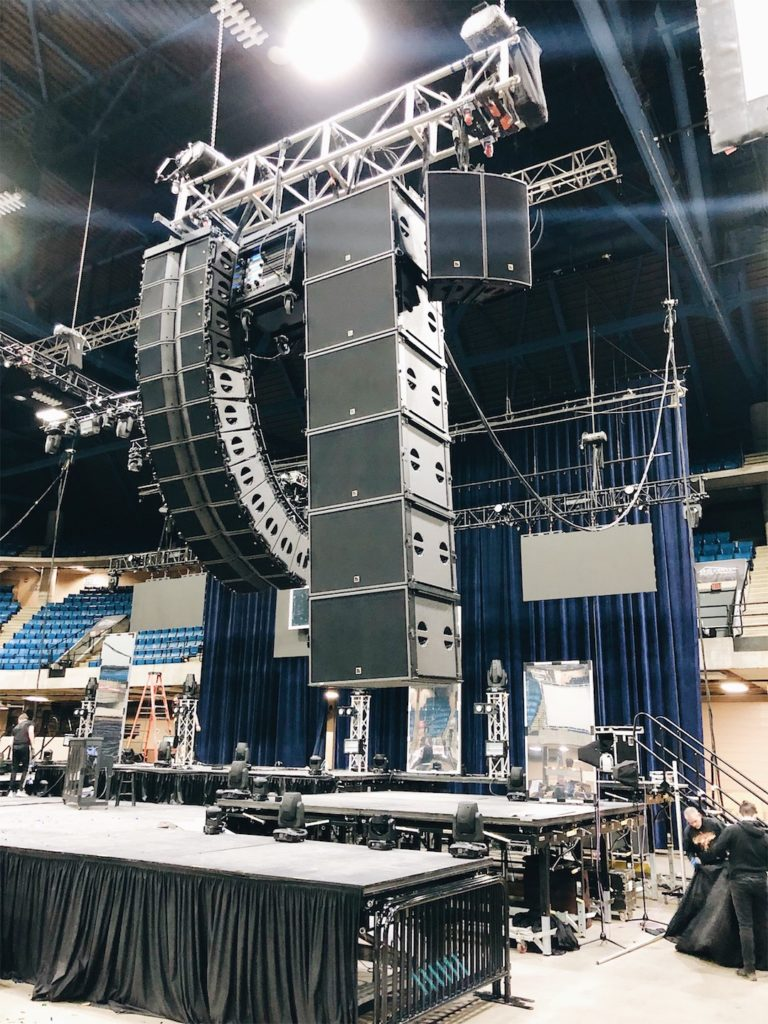 L Acoustics Kara ARCS SB18 for Christ In Youth Believe Tour